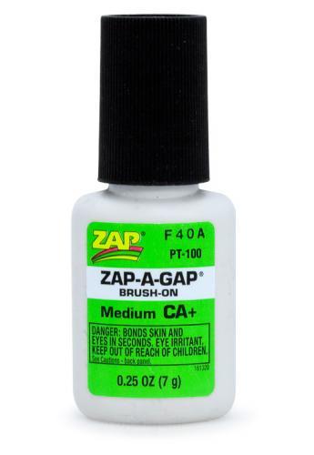 ZAP CA+ 1/4 oz 7gr Brush-On Grön