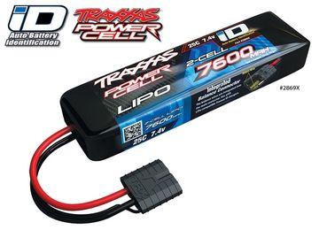 Traxxas Li-Po Batteri 2S 7,4V 7600mAh 25C iD-kontakt