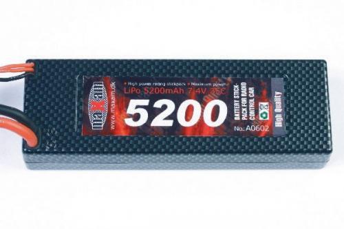 MAXAM LIPO 7,4V 5200MAH 35C T-PLUG (HARD CASE)