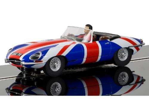 Scalextric JAGUAR E-TYPE UNION JACK