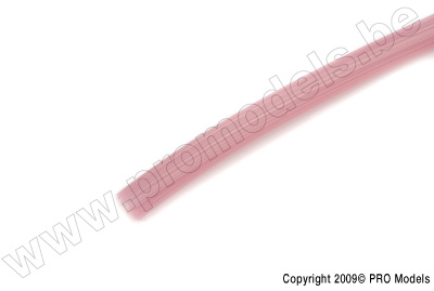Star-line Silicon Fuel Tube 2,5 x 6mm, Pink (1m)