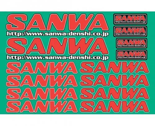 Sanwa decal white RED-2009 488846