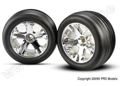 Traxxas Ribbed Alias chrome wheels