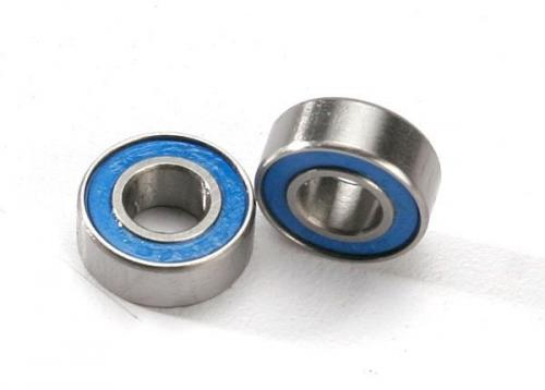 Ball bearings, blue rubber sealed (6x13x5) (2)