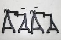 Front upper & lower A-arm set - black