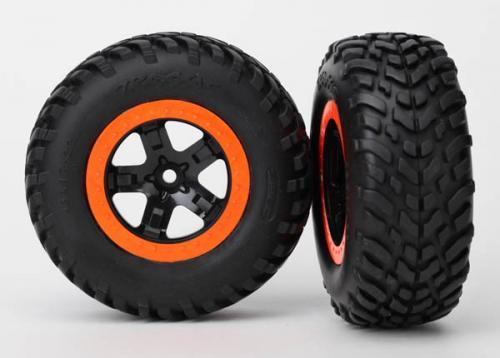 Tires & wheels, assembled, glued (SCT black,