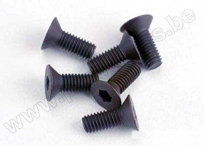 Screws, 3x8mm countersunk machine (6)