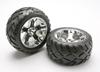 Traxxas tires & wheels, assembled, glued