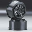 Rulux- Slash front wheel black