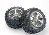 Traxxas, Tires & wheels, assembled, glued 14mm hex