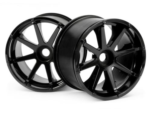 BLAST WHEEL BLACK (115x70mm 7inch/2pcs)