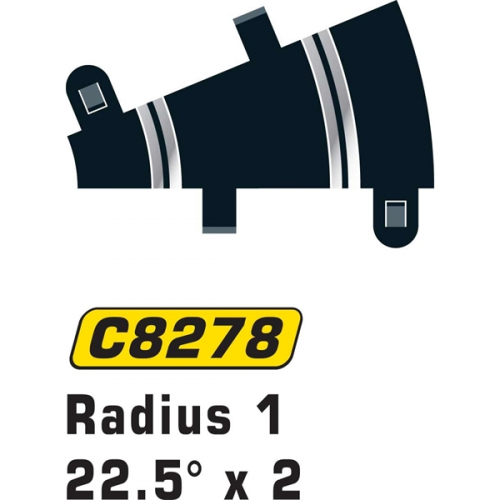 Scalextric Rad 1 Half Inner Curve 22.5° (2st)