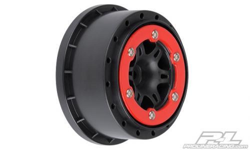 "Fälg, Split six 2.2""/3.0"" Red/black Bead-Lock rear"