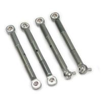 Aluminum front/rear adjustable tie rod - gun metal