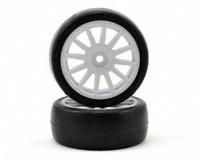 Tires & wheels, assembled, glued (12-spoke white w