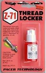 Zap Z-71 Skruvlåsning 6ml röd