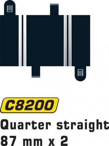 Scalextric Quarter Straight 87mm (2st)