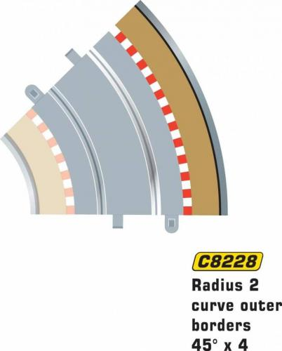 Scalextric Rad 2 Outer borders & barrier