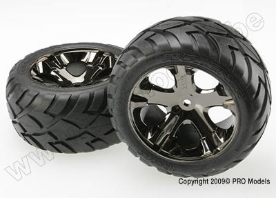 Tires & wheels, assembled, glued (All Star black c