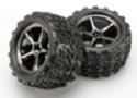 Traxxas Gemini, black chrome wheels and tire