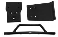 Front bumper & skid plate - black