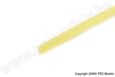 Star-line Silicon Fuel Tube 2,5 x 6mm, Yellow (1m)