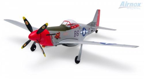 Airnox UMS P-51D Mustang RTF 4ch med 3AXG Gyro