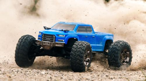 ARRMA 1/10 BIG ROCK CREW CAB 4X4 3S BLX BRUSHLESS RTR, BLUE (ARA102723) Lipo Edition