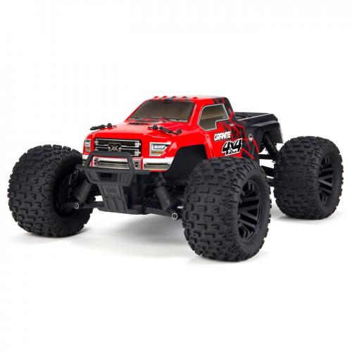 Arrma 1/10 GRANITE MEGA 550 Brushed 4WD Monster Truck RTR Int, Red/Black