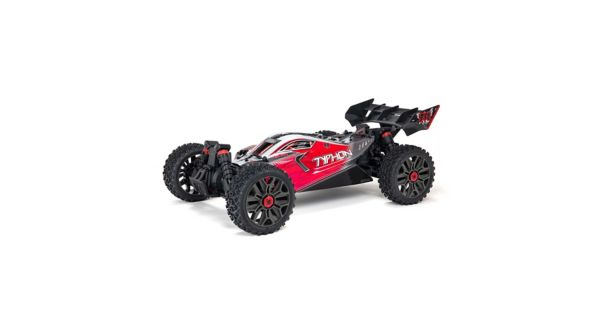 Arrma 1/8 TYPHON 3S BLX Brushless 4WD Buggy RTR, Red
