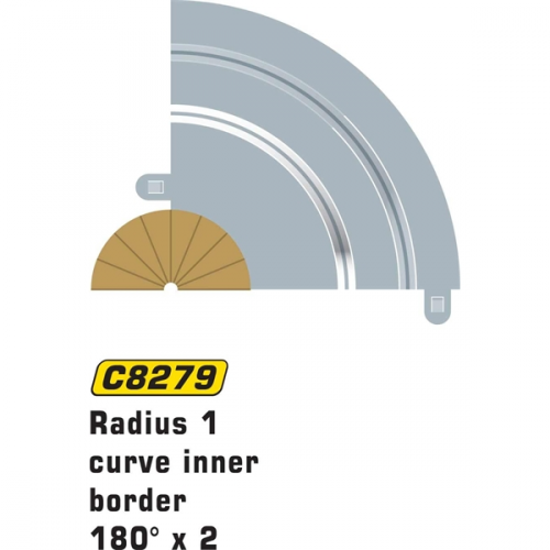 Scalextric Rad 1 Inner borders & barriers