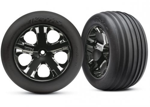 Traxxas Ribbed All star black chrome wheels