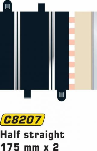 Scalextric Half Straight 175mm (2pcs)