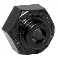 12mm Aluminum Hex Hub (black) (4pcs)