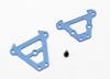 Bulkhead tie bars, front & rear (blue-anodized alu