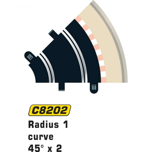 Scalextric Rad 1 Inner Curve 45° (2st)