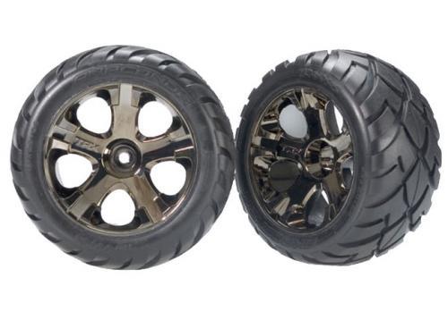 Tires & wheels, assembled, glued (All-Star black