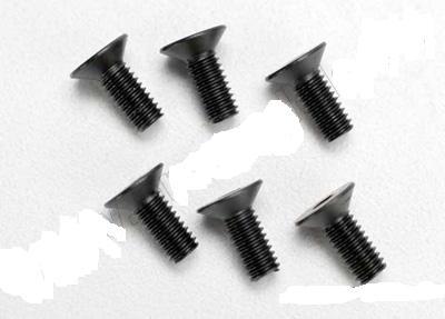 Screws, 4x10mm countersunk machine (hex drive) (6)