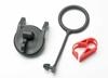 Pull ring, fuel tank cap/ engine shut-off clamp