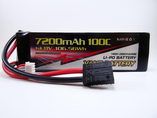 Vant 14.8v 100c 7200mah battery med TRX kontakt