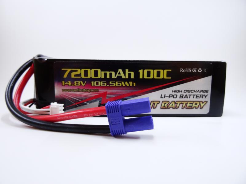 Vant 14.8v 100c 7200mah battery med EC5 kontakt