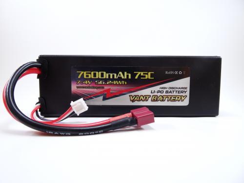 Vant Battery 7.4V 7600mah 75C Deans