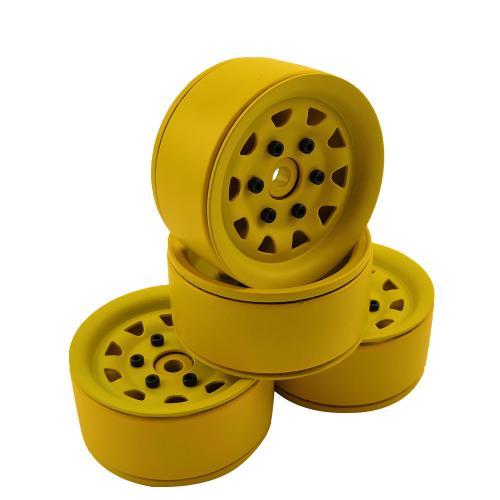 """Aluminium beadlock crawler wheels 1.9"""" 4pcs Green"""