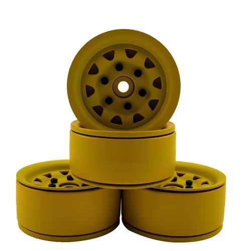 """Aluminium beadlock crawler wheels 1.9"""" 4pcs Bronze"""
