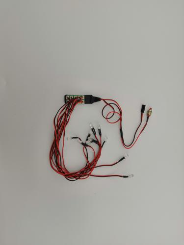 LED RC lights, 10 lamps with socket