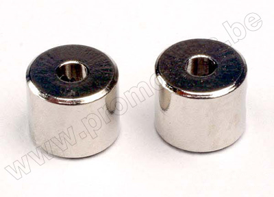 Collars, screw (2)/ set screws, 3mm (2)