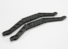 Chassis bracers, lower (black) (2)