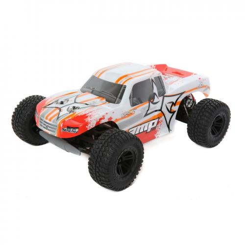 ECX 1/10 AMP MT 2WD Monster Truck RTR, White/Orange INT