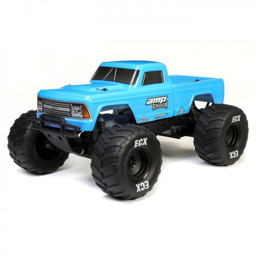 ECX 1/10 Amp Crush 2WD Monster Truck Brushed RTR International, Blue (ECX03048IT1)