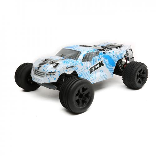 ECX 1/10 Circuit 2WD Stadium Truck Brushed with LiPo RTR, White/Blue, INT